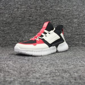 Red and white stylish personality running shoes