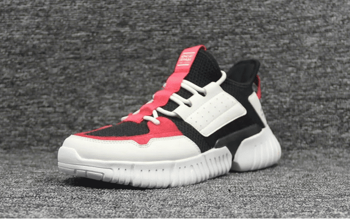 Red and white sneakers-Private Label Shoe
