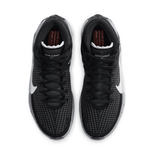 Black basketball shoes top