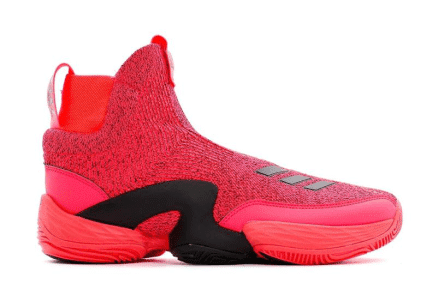 Red basketball shoes