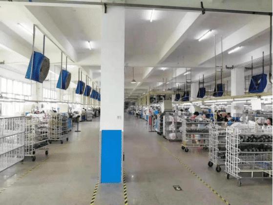 xin de sheng shoe factory production workshop