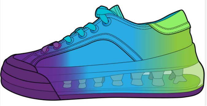 Private label sports shoes Structure