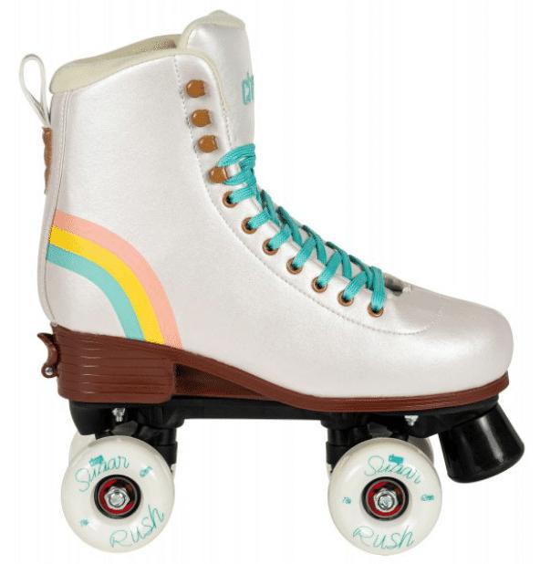 A white roller skates
