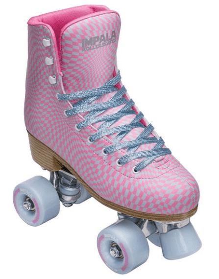 A pink roller skates