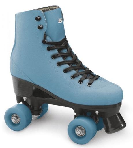 A sky blue roller skates