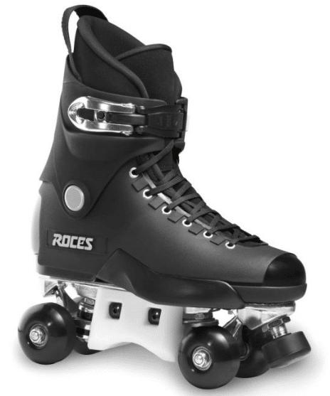 A black roller skates